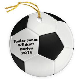 Soccer Porcelain Ornament Ball
