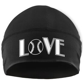 Beanie Performance Hat - Love Softball (White Lettering)