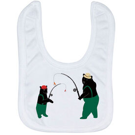 Fly Fishing Baby Bib - Bears