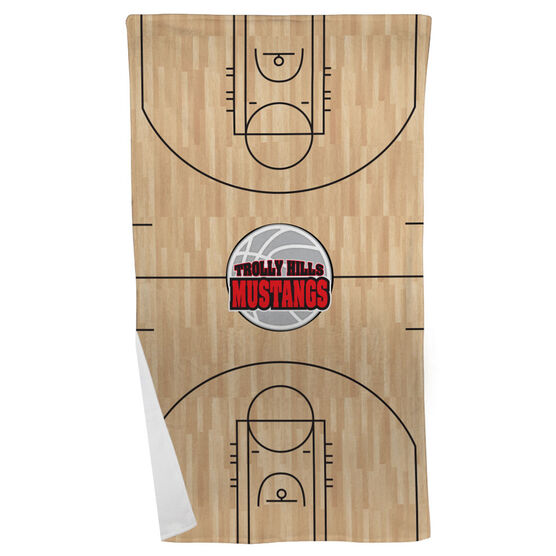 Basketball Beach Towel Personalized Court With Logo