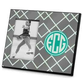 Figure Skating Photo Frame Monogram Pattern