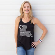 Flowy Racerback Tank Top - Louisiana