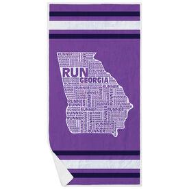 Running Premium Beach Towel - Georgia State Runner