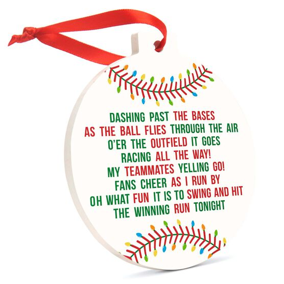 Baseball Round Ceramic Ornament - Jingle All the Way