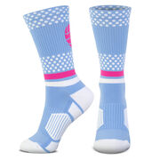 Volleyball Woven Mid-Calf Socks - Tropic Neon