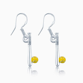 Softball Bat & Ball Earrings (C218 TLF)