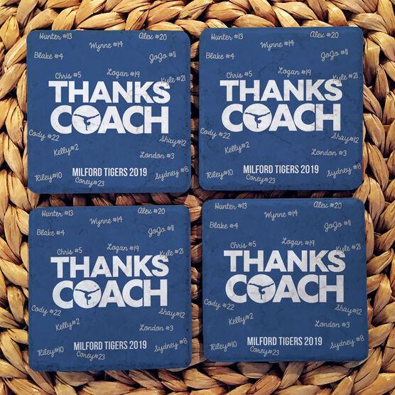 Gymnastics Stone Coasters Set of Four - Coach (Autograph)