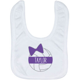 Volleyball Baby Bib - Personalized Volleyball Bow