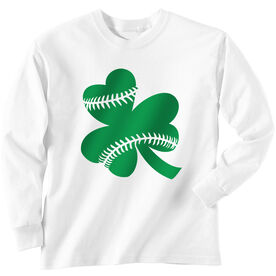 Baseball Tshirt Long Sleeve Shamrock Baseball Stitches