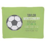 Soccer Baby Blanket - Birth Announcement