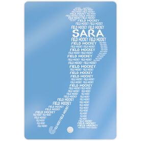 "Field Hockey 18"" X 12"" Aluminum Room Sign - Personalized Field Hockey Words"
