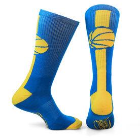 Basketball Woven Mid Calf Socks - Superelite (Royal Blue/Gold)
