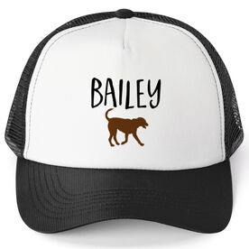Personalized Trucker Hat - I Love My Dog