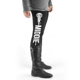 Girls Lacrosse High Print Leggings - Middie