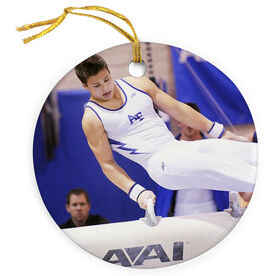 Gymnastics Porcelain Ornament Custom Gymnastics Photo