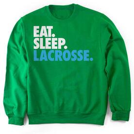 Lacrosse Crew Neck Sweatshirt - Eat. Sleep. Lacrosse.
