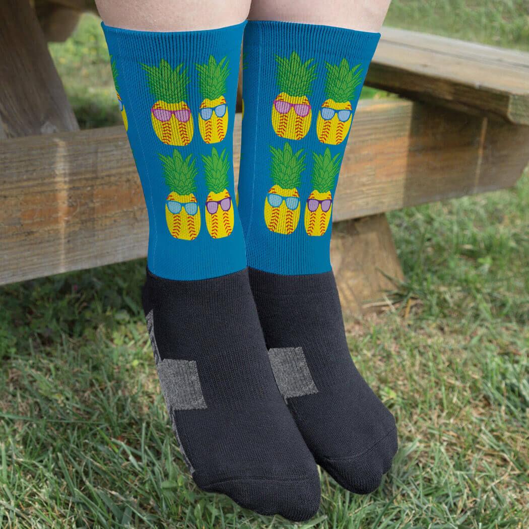 Game Life High Socks Pineapple Sport Socks Crew Socks