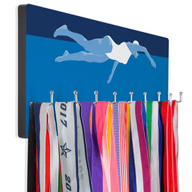 Swimming Hooked on Medals Hanger - Swimmer Girl