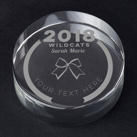Cheerleading Personalized Engraved Crystal Gift - Custom Team Award