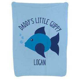 Swimming Baby Blanket - Daddy's Little Guppy