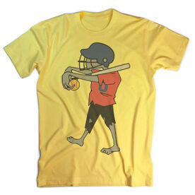Vintage Softball T-Shirt - Zombie Player