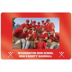 "Baseball 18"" X 12"" Aluminum Room Sign - Team Photo"