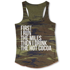 Running Camouflage Racerback Tank Top - Then I Drink The Hot Cocoa