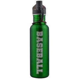 Varsity Baseball 24 oz Stainless Steel Water Bottle