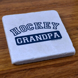 Hockey Grandpa - Stone Coaster