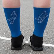 Field Hockey Printed Mid-Calf Socks - Player