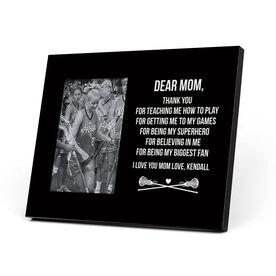 Girls Lacrosse Photo Frame - Dear Mom Thank You
