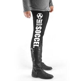 Soccer High Print Leggings - Eat Sleep Soccer
