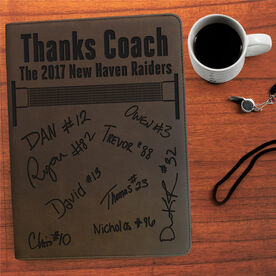 Volleyball Executive Portfolio - Thanks Coach with Signatures