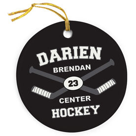 Hockey Porcelain Ornament Custom Hockey Team