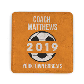 Soccer Stone Coaster - Personalized Soccer Coach