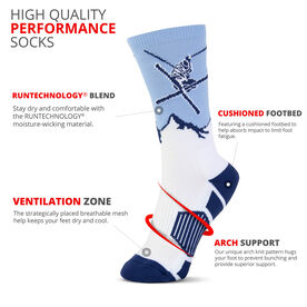 Skiing Woven Mid-Calf Socks - Mountain