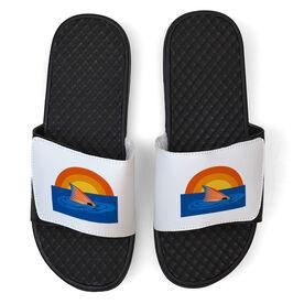 Fly Fishing White Slide Sandals - Redfish Finning