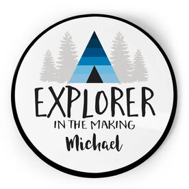 Personalized Circle Plaque - Explorer In The Making