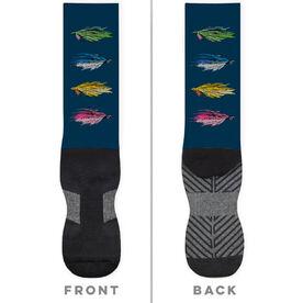 Fly Fishing Printed Mid-Calf Socks - All Stocked Up