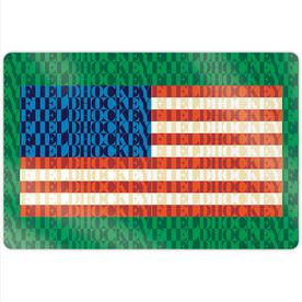 "Field Hockey 18"" X 12"" Aluminum Room Sign - American Flag Mosaic"
