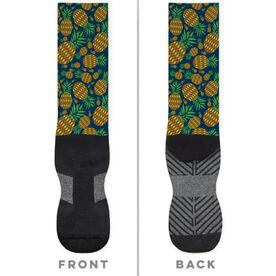 General Sports Printed Mid-Calf Socks - Pineapple Crazy