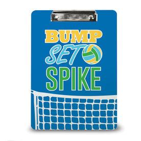 Volleyball Custom Clipboard Bump Set Spike with Net