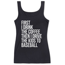 Baseball Women's Athletic Tank Top - Then I Drive The Kids To Baseball