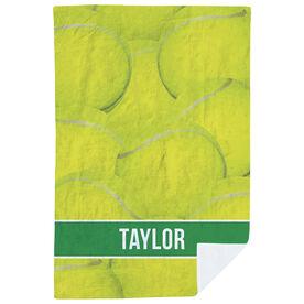 Tennis Premium Blanket - Personalized Ball Background