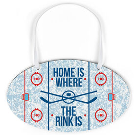 Hockey Oval Sign - Home Is Where The Rink Is