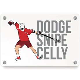 Guys Lacrosse Metal Wall Art Panel - Dodge Snipe Celly