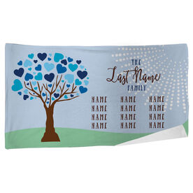 Personalized Beach Towel - Family Tree