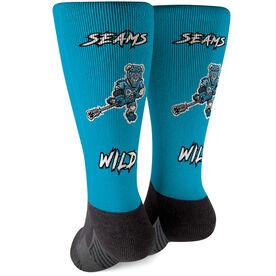 Seams Wild Lacrosse Printed Mid-Calf Socks - Chillax