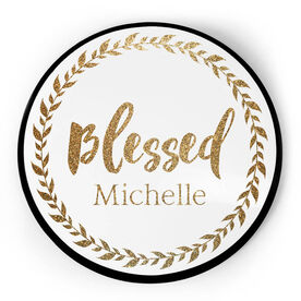Personalized Circle Plaque - Blessed