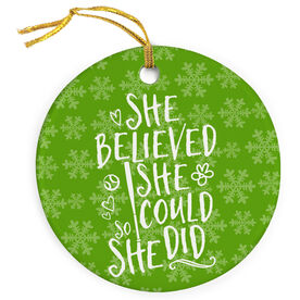 Softball Porcelain Ornament She Believed She Could